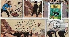 """FDC BELGIQUE """"100 ans Hergé - TINTIN Trésor de Rackham le Rouge"""" 2007 (TYPE 5)"""