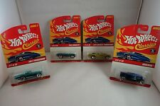 "VINTAGE NOS 2005 - HOT WHEELS ""CLASSICS"" - SERIES 2 - LOT OF 4 CARS - MOC"