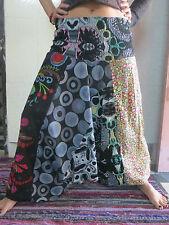 Sarouel Femme - Vetements Hippie - Haut Combinaison  3 en 1 Noir