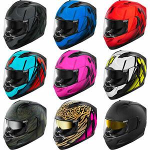 Icon Alliance GT Full Face Motorcycle Helmet & Sun Visor - Pick Size/Graphic