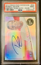 RUSSELL WILSON 2012 Press Pass Fantasy Team Blue Ink Auto /50 PSA 9 MINT RC Rare