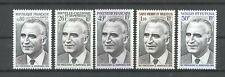 Präsident Pompidou - Franz. Gebiete - 5 Werte ** MNH 1974