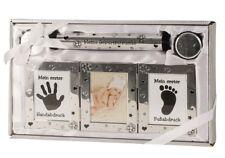 Baby Set silber Michzahn- Haardose Fotorahmen Röhre Taufe Geburt