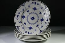 """6 Masons Blue & White Denmark 10"""" Dinner Plates"""