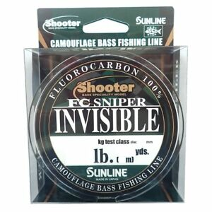 SUNLINE Shooter FC SNIPER INVISIBLE 82.5yds (75m) Select LB Fluorocarbon Line