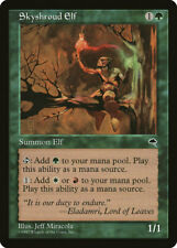 Magic MTG Tradingcard Tempest 1997 Skyshroud Elf