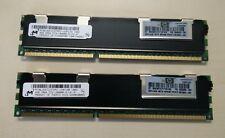 Kit Mémoire RAM Micron HP 8Go DDR3 4Gox2 PC3 10600 ECC Registered
