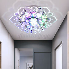 LED Crystal Chandelier Pendant Ceiling Light Fixtures Hallway Modern Lighting