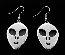 "034; aluminum alloy earrings One pair hand-polished ""Extra-Terrestrial&#"
