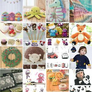 DMC Crochet Patterns - 4 ply Chunky Amigurumi Toy Lace Children Baby Women Home