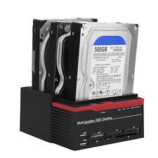 """480Mbps USB3.0 Station d'accueil Disque Dur 2.5"""" 3.5"""" SATA/IDE Lecteur Carte HUB"""