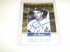 AUTO JOE PEPITONE 2008 UD YANKEE STADIUM LEGACY 06/11/68 NEW YORK YANKEES
