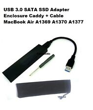 USB 3.0 SATA SSD Datos Adaptador CAJA CADDY + CABLE MacBook Air A1370 A1369