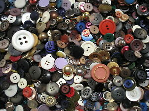 2 lbs of New Assorted Colorful Metal & Plastic Buttons