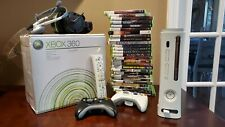 Xbox 360 20 GB Console Pre-Owned In Box 3 Controllers, Remote, Headset, 27 Games