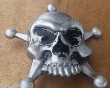 ♈ SKULL  STAR SPADE NOSE ♈ Antique Silver Color Poker Harley Awesome Belt Buckle