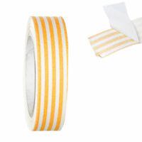Stoff-Klebeband, Fabric Tape, Masking Tape - ca. 4 Meter auf Rolle - Orange,weiß