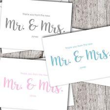 Wedding Thank You Cards • Personalised • Folded • Inc. Envelopes • Any Colour