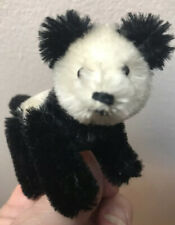 Rare W/Tail Vintage Miniature Schuco Arche Panda Bear On All 4s 3.5� Nr
