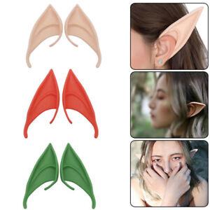 Latex Elf Ears Cosplay Wrap Fairy Goblin Ears Artificial Halloween Costume Party