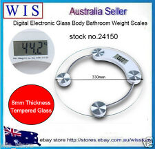 180Kg Digital LCD Electronic Tempered Glass Bathroom Weighing Scale-24150