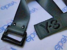 "Y-3 X YOHJI YAMAMOTO BELT GREY webbing logo 48"" x 1.5"" m 125cm"