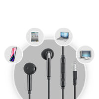 Wired Earphone Earbuds Stereo Bass Headphone Sports Headset With Mic For Samsung