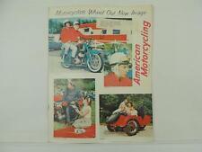 Vintage Nov 1962 AMERICAN MOTORCYCLING Magazine Jawa Super Sport BSA AMA L3388