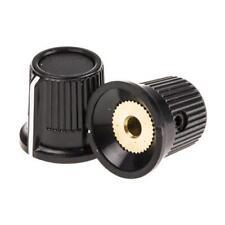 5 x RS Pro Potentiometer Knob Black, Dia. 16.2mm, White Indicator, 3.175mm Shaft