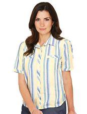 Striped Cotton Blouse Plus Size for Women