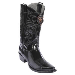 Men's Los Altos Genuine Shiny Leather Cowboy Western Boots Snip Toe