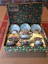 Vtg Lusterware Made In Japan Complete Set Of Childs Little Hostess Tea Set & Box