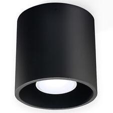 Modern schwarze Deckenlampe ORBIS 1 G9 Deckenleuchte rund Aluminium Flurlampe