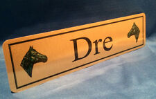 Personalised Horse Name Plaque Stable Door 3 Sizes Available Gold or Silver