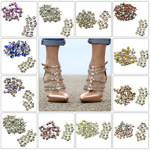 8mm Diamante Crystal Rivets Studs for Leather Bags Shoe Biker Fashion Decoration