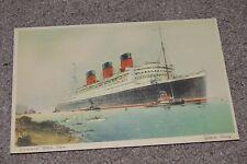 Vtg Queen Mary Cunard White Star Passenger Ship Ocean Liner Postcard A 2895