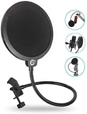 Ejt Upgraded Microphone Pop Filter Mask Shield for Blue Yeti and Other Mic, 6