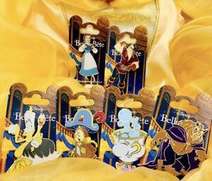 6 Pin OE Disneyland Paris Beauty And The Beast La Belle Et La Bête Lumière