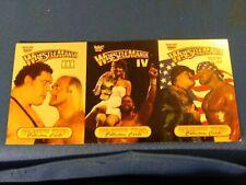 Wrestle Mania 3 Card Panel. Wrestle Mania 3, 4 and 7
