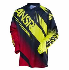 ANSR Syncron Jersey Blk/Red/Acid Motocross Mx Enduro Quad Off Road
