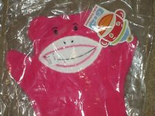 Monkeez wash cloth mitt baby collection-new w/ tags-pink