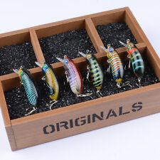 6pcs Lot Plastic Bait Wobblers Minnow Lure Fishing Lures Bass CrankBait 6cm/9.7g