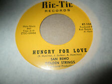 SAN REMO GOLDEN STRINGS BOB WILSON HUNGRY FOR LOVE ALL TURNED ON 45 RIC-TIC NM