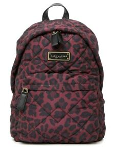 MARC JACOBS Quilted Nylon Printed Backpack -M0016683- $250 LEOPARD -NWT-