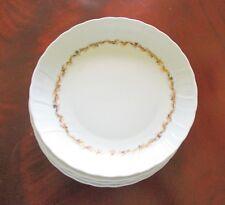 "Bernardaud ~ Limoges ""Chardons Dores"" ~  4 Soup Bowls ~ Mint"