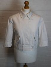 HUGO BOSS Ladies White JAVY Cropped Jacket / Coat  Size UK 14 - IT 46 - US 12