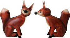 2 FIGURINES RENARD DECORATION  MAISON JARDIN METAL