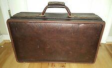 Vintage Hartman 21x12x7.5 Briefcase Luggage leather Bag Attache Roman God lining