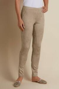 NWT's $89 Soft Surroundings Women's Leatherlike Stone Leggings SZ P Petite L
