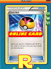 2x Level Ball - for Pokemon TCG Online ( DIGITAL ptcgo in Game Card)